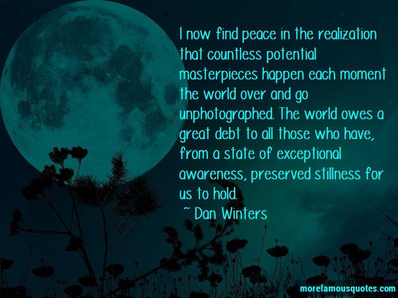 Dan Winters Quotes