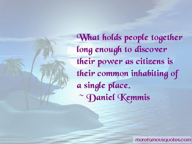 Daniel Kemmis Quotes Pictures 3