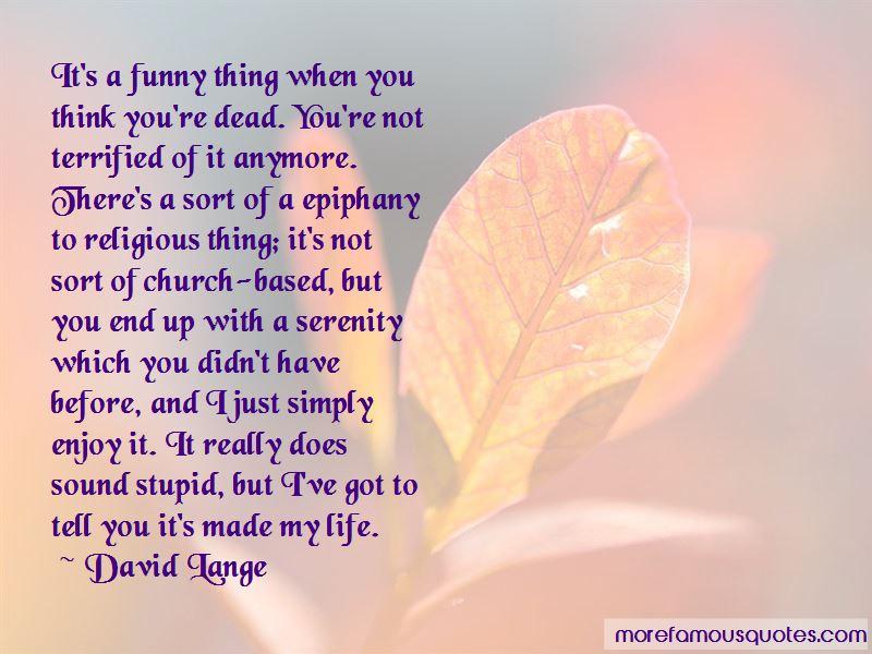 David Lange Quotes