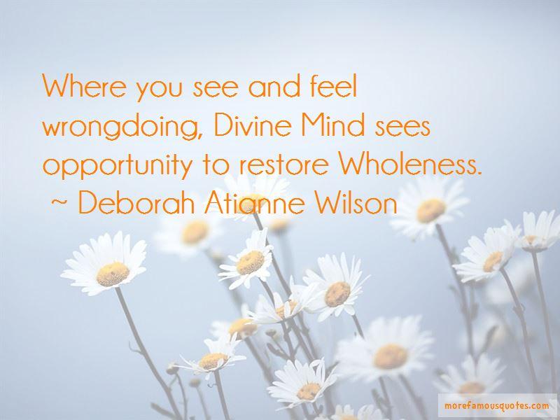 Deborah Atianne Wilson Quotes