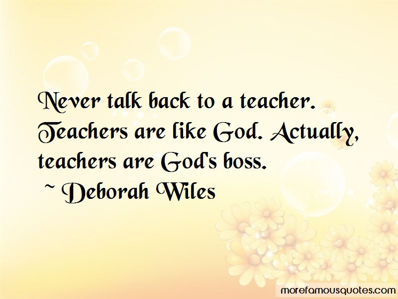 Deborah Wiles Quotes