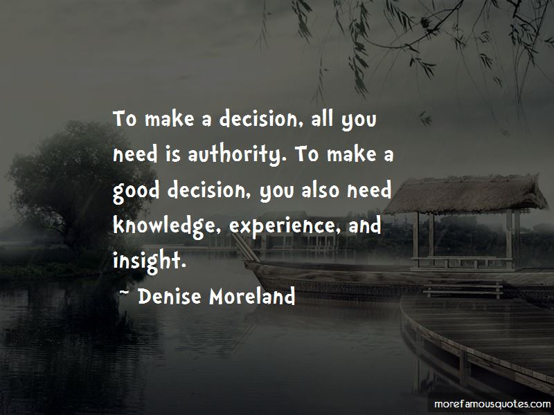 Denise Moreland Quotes