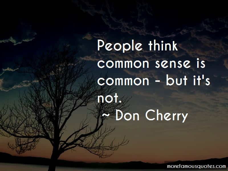 Don Cherry Quotes