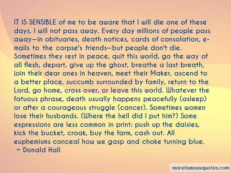 Donald Hall Quotes Pictures 2