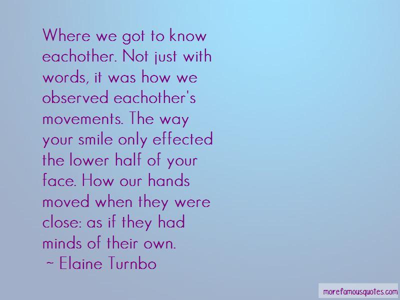 Elaine Turnbo Quotes