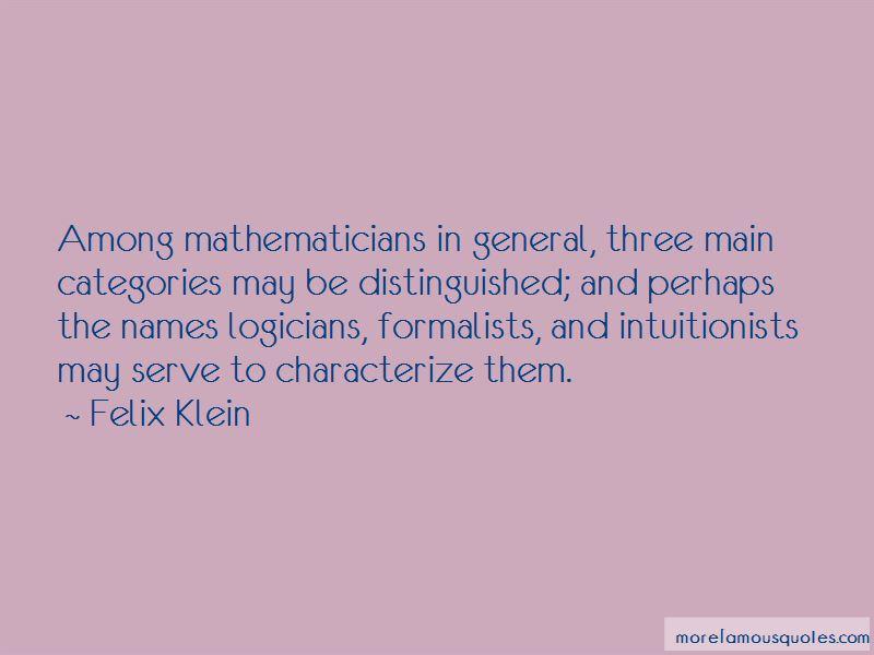 Felix Klein Quotes Pictures 3