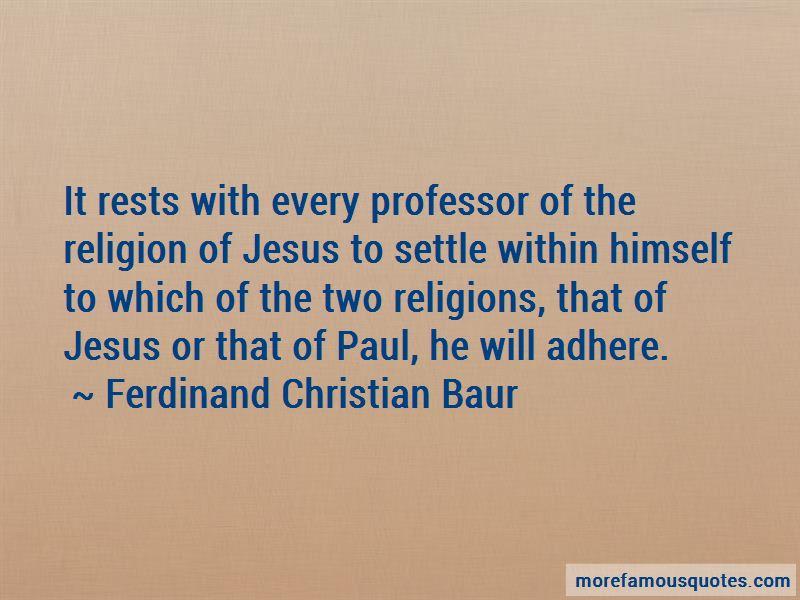 Ferdinand Christian Baur Quotes