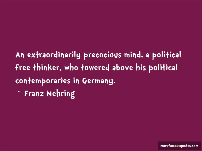 Franz Mehring Quotes