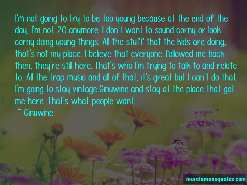 Ginuwine Quotes
