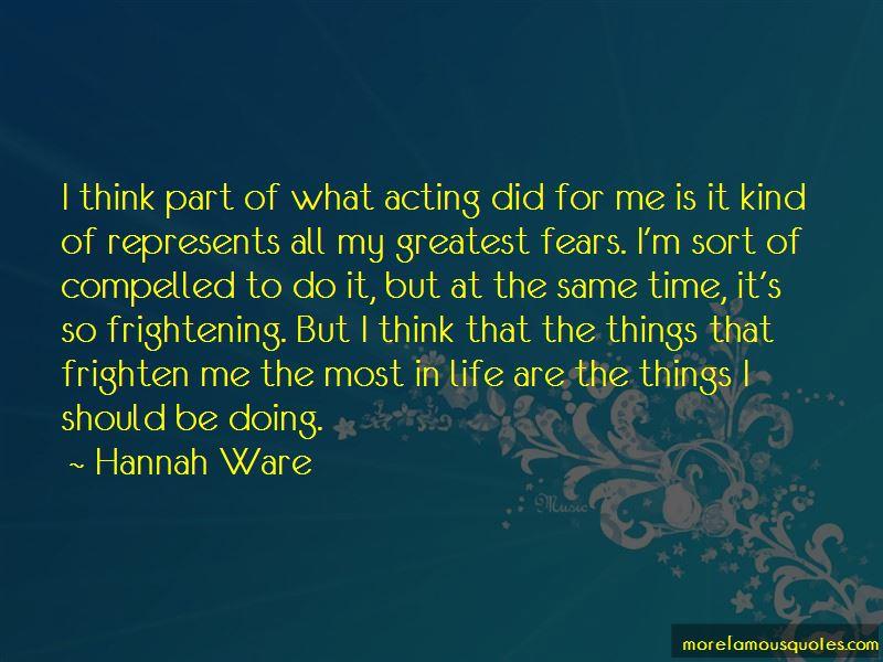 Hannah Ware Quotes