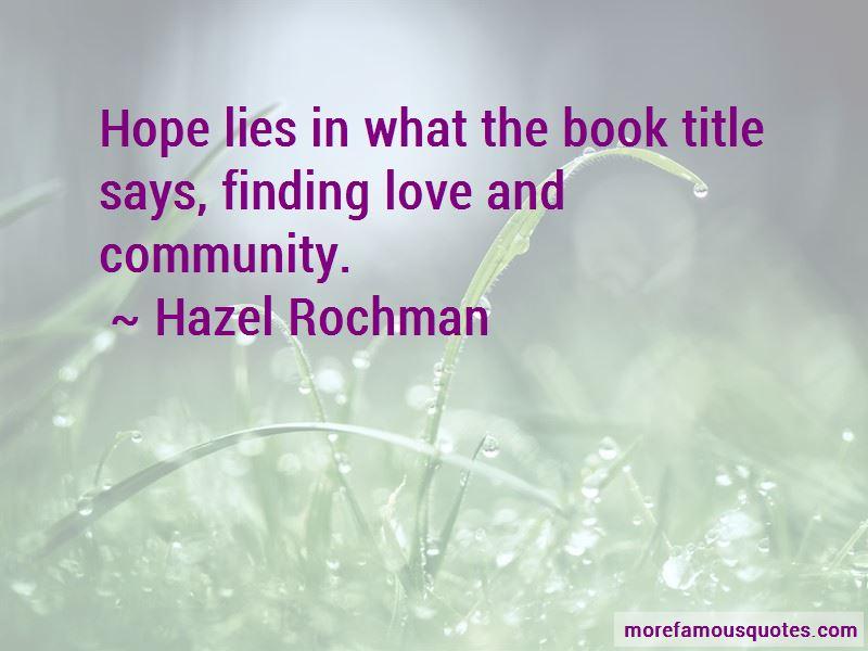 Hazel Rochman Quotes Pictures 2