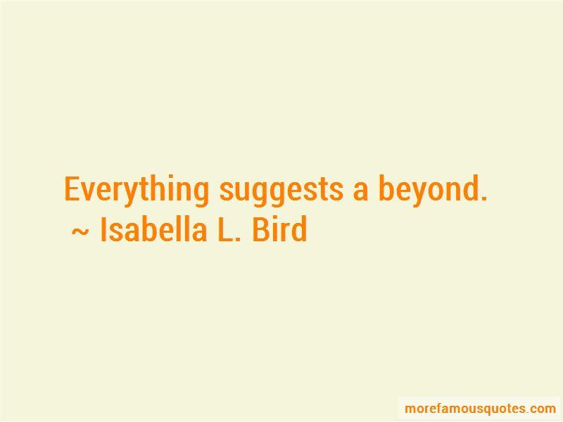 Isabella L. Bird Quotes