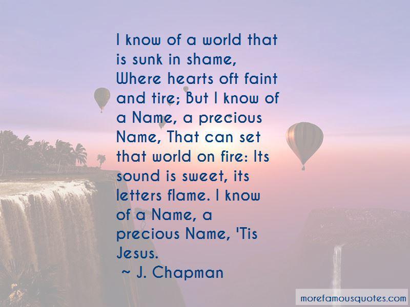 J. Chapman Quotes