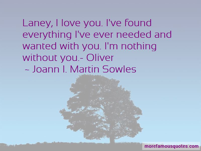 Joann I. Martin Sowles Quotes
