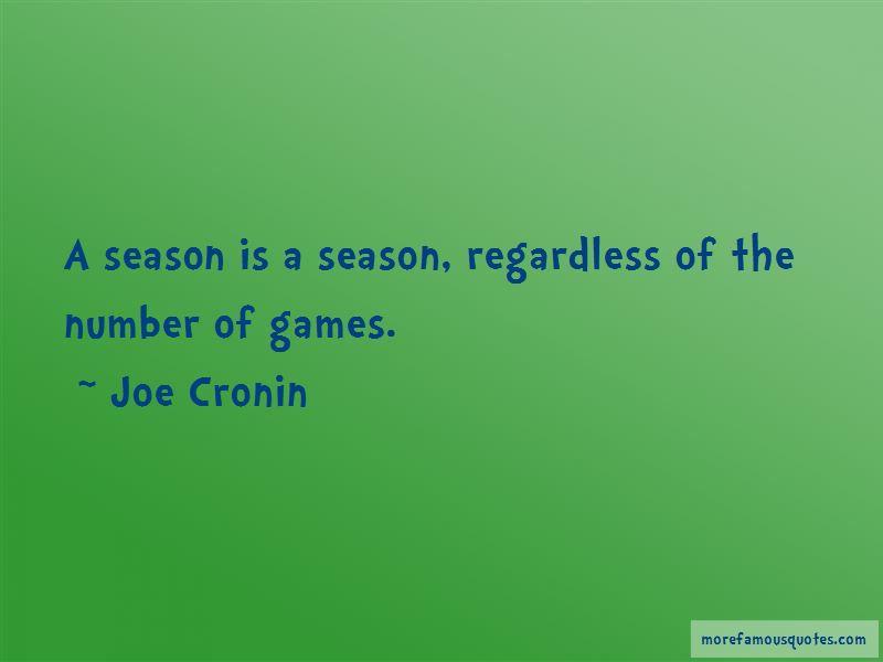 Joe Cronin Quotes