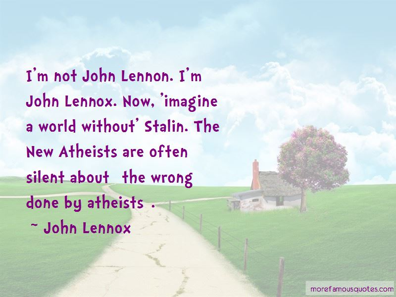 John Lennox Quotes Pictures 3