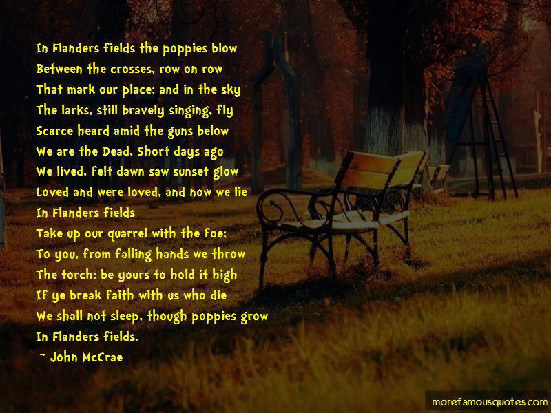 John McCrae Quotes Pictures 2