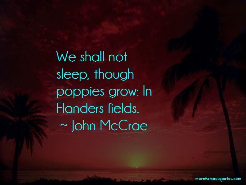 John McCrae Quotes Pictures 4