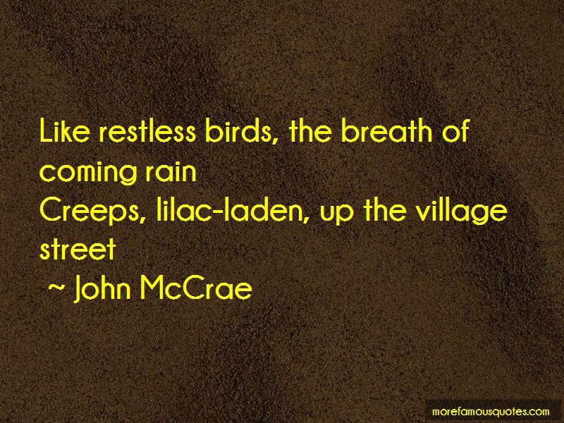 John McCrae Quotes