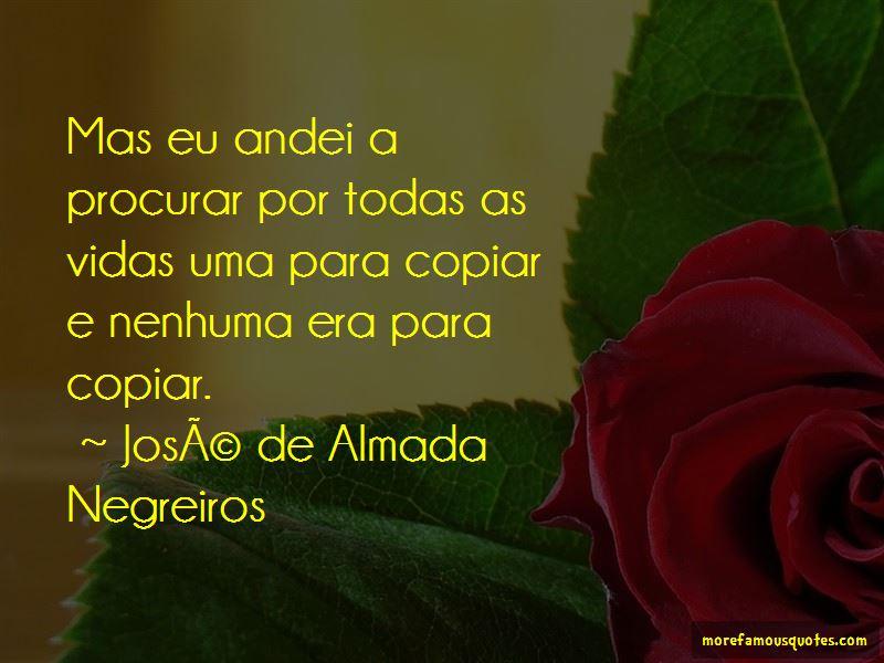 Jose De Almada Negreiros Quotes