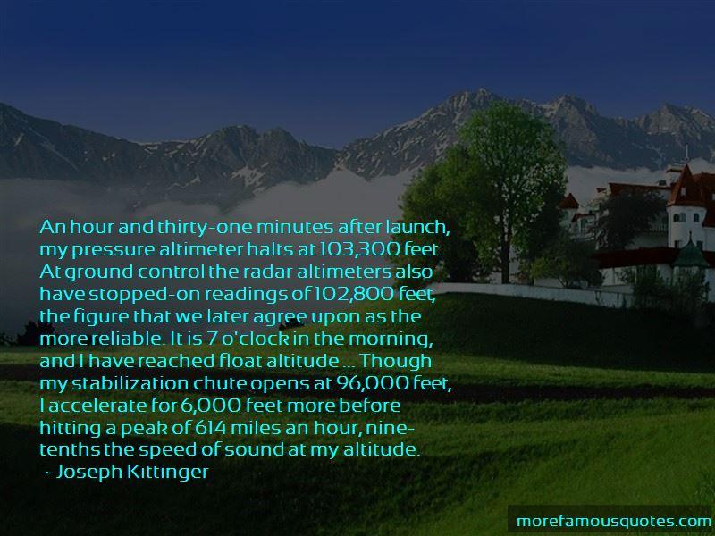 Joseph Kittinger Quotes