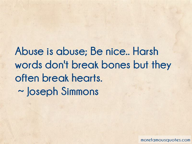 Joseph Simmons Quotes