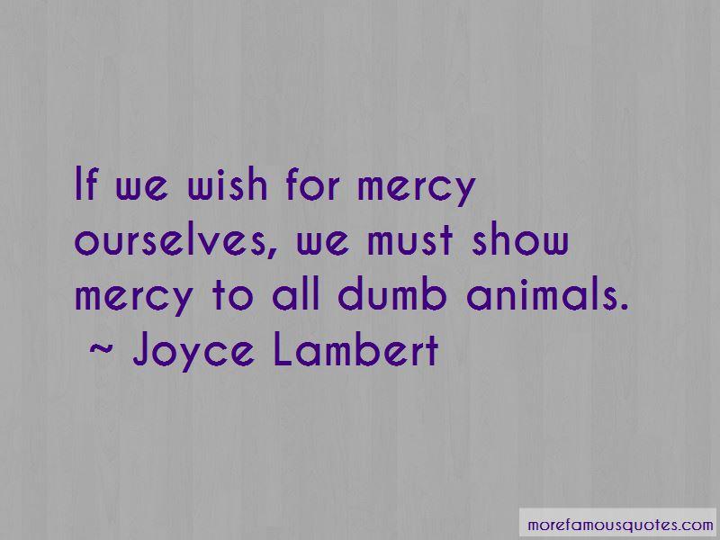 Joyce Lambert Quotes