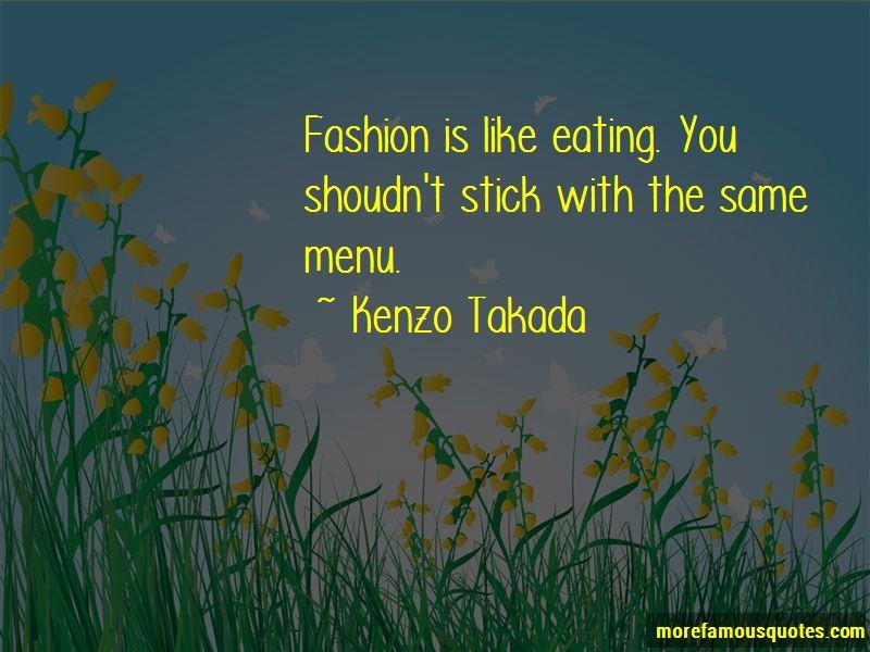 Kenzo Takada Quotes