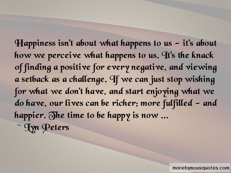 Lyn Peters Quotes