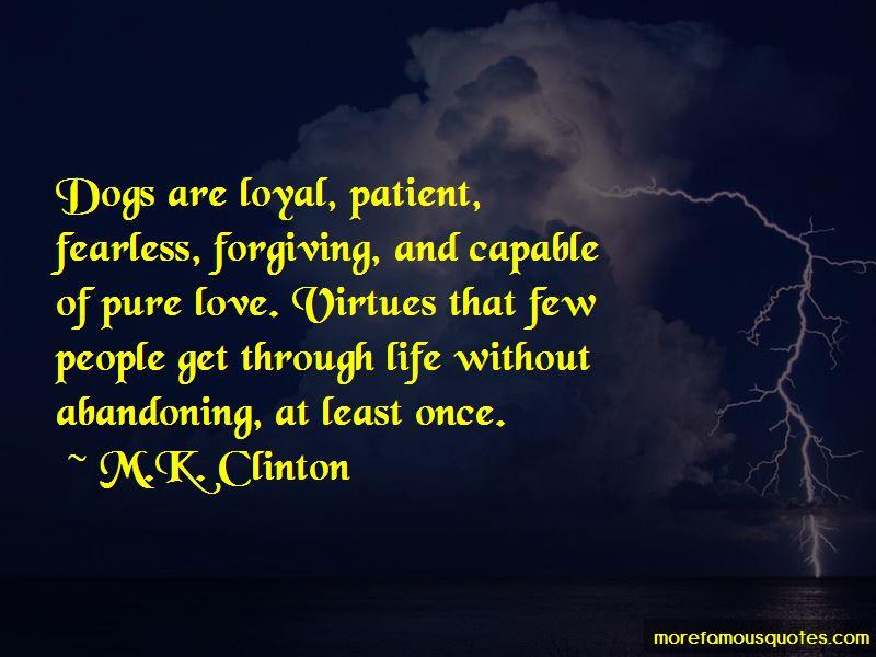 M.K. Clinton Quotes