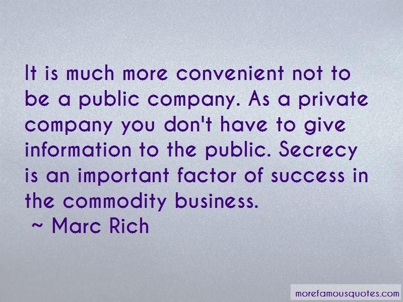 Marc Rich Quotes