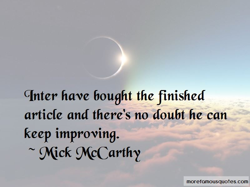 Mick McCarthy Quotes Pictures 2