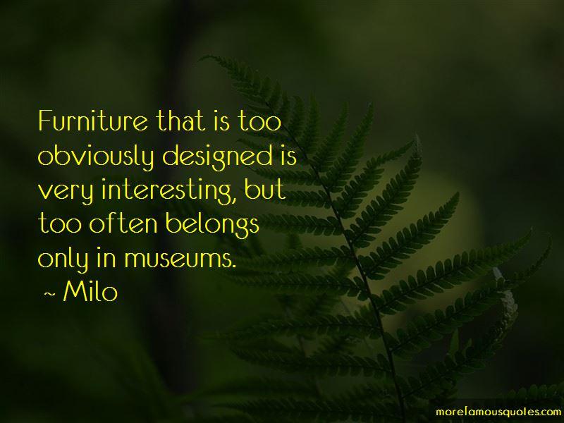 Milo Quotes