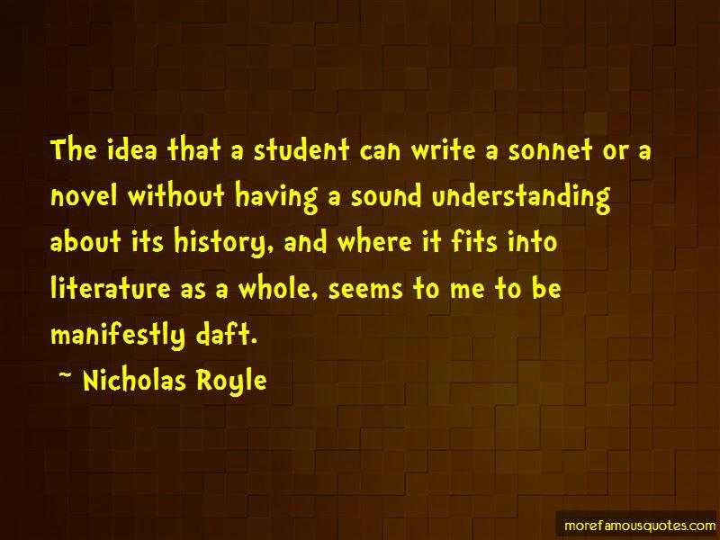 Nicholas Royle Quotes