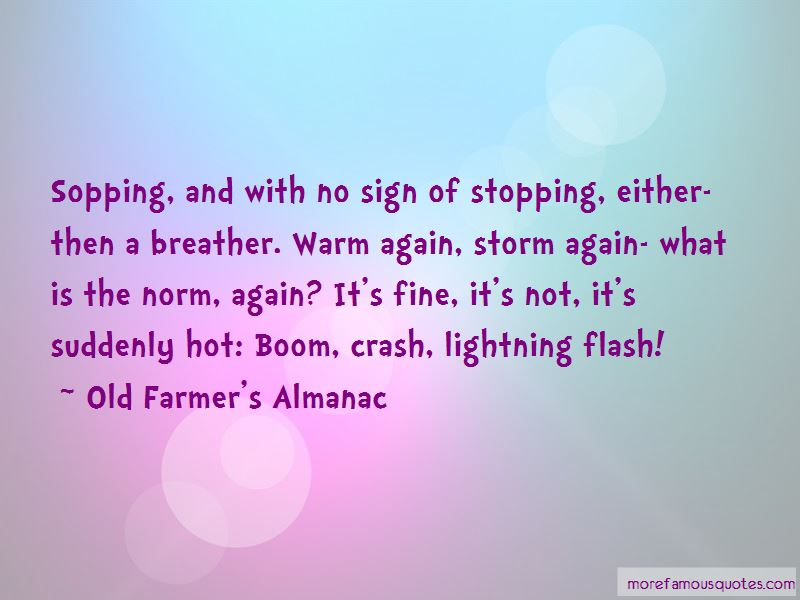 Old Farmer's Almanac Quotes