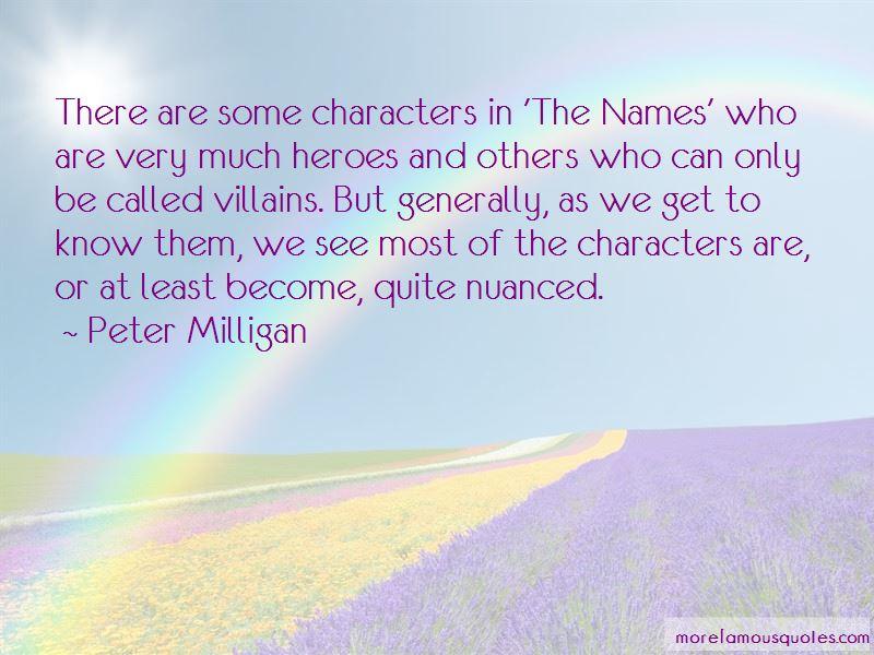 Peter Milligan Quotes Pictures 2