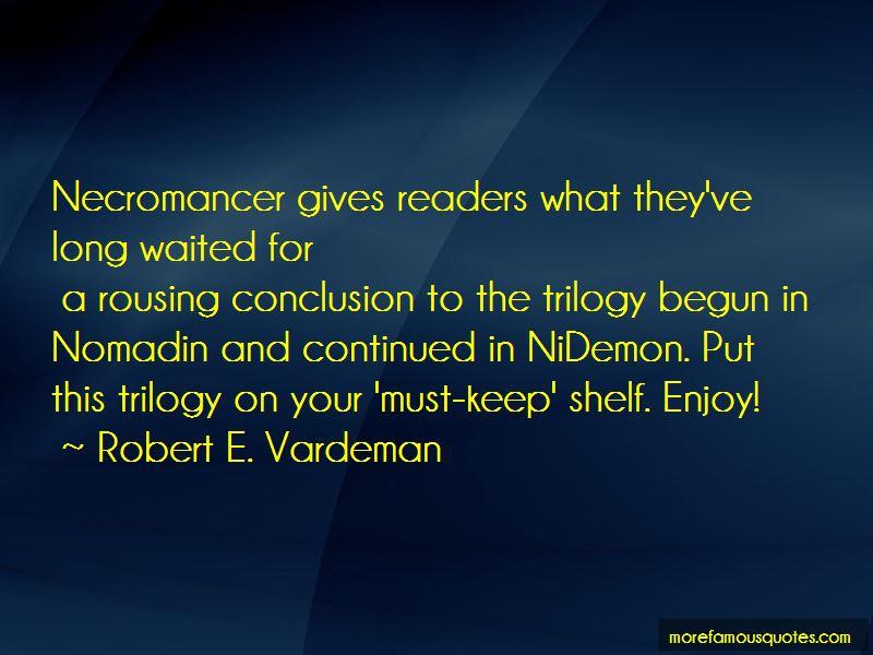 Robert E. Vardeman Quotes