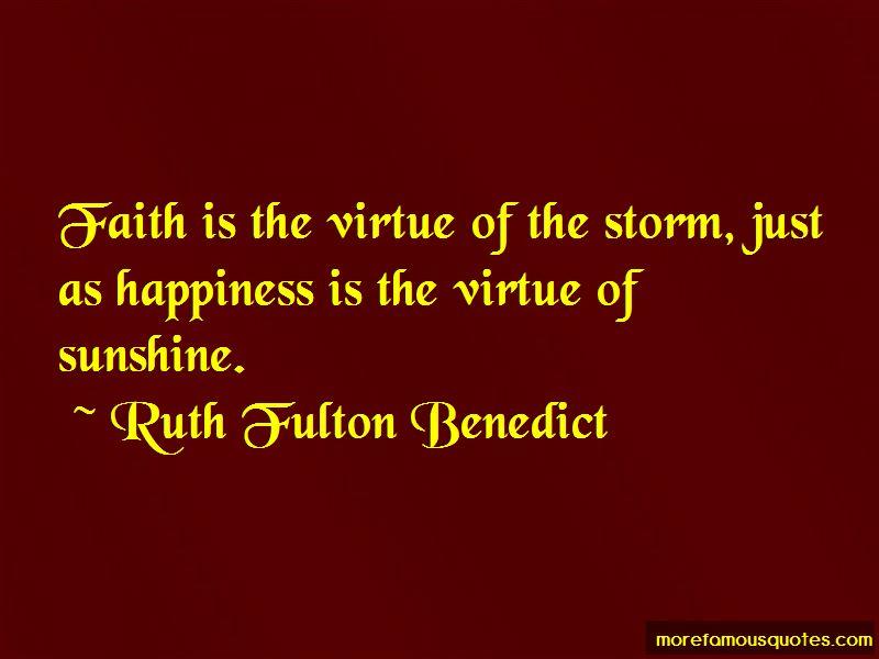 Ruth Fulton Benedict Quotes