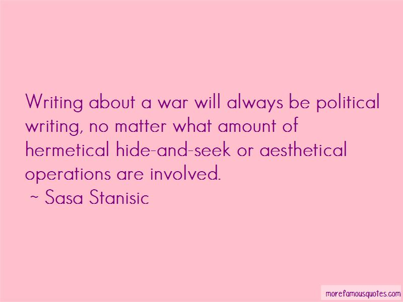 Sasa Stanisic Quotes Pictures 4