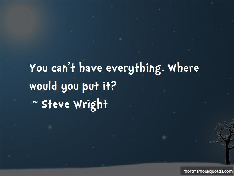 Steve Wright Quotes