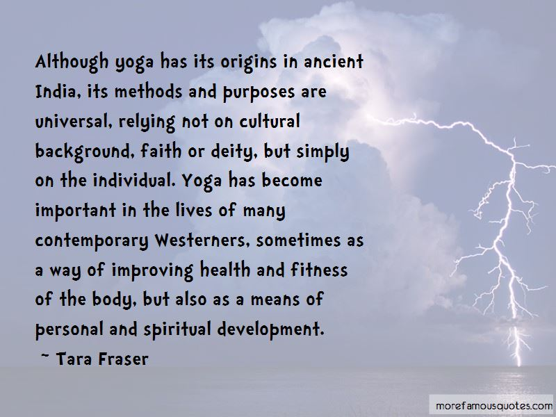 Tara Fraser Quotes