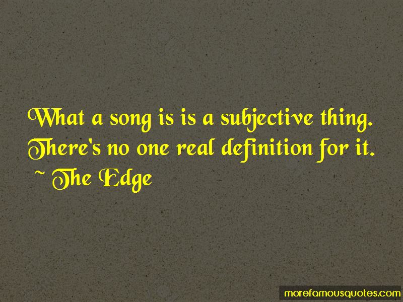The Edge Quotes Pictures 3