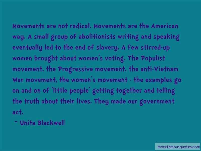 Unita Blackwell Quotes