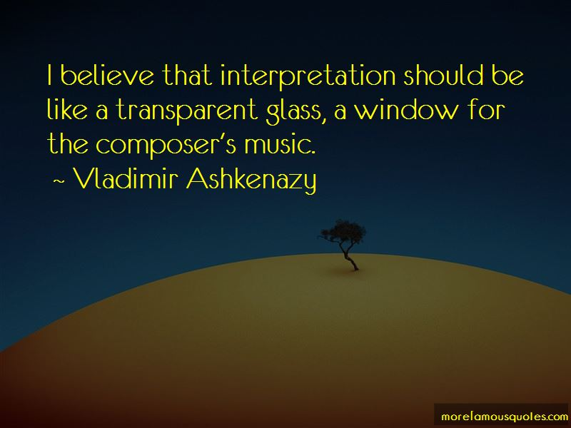 Vladimir Ashkenazy Quotes