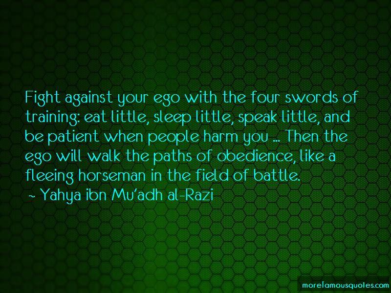Yahya Ibn Mu'adh Al-Razi Quotes