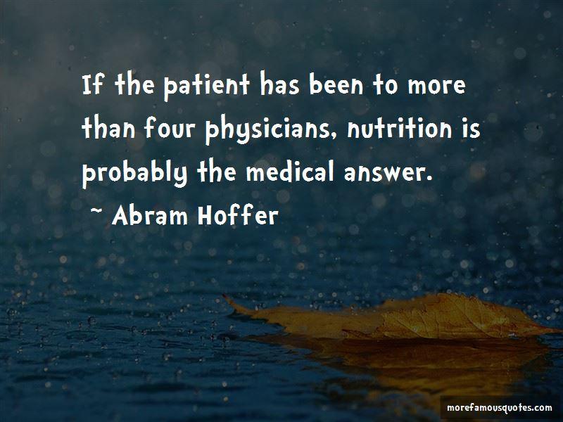 Abram Hoffer Quotes