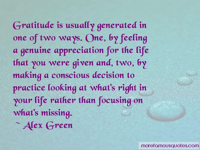 Alex Green Quotes