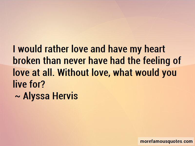 Alyssa Hervis Quotes