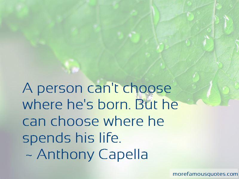 Anthony Capella Quotes