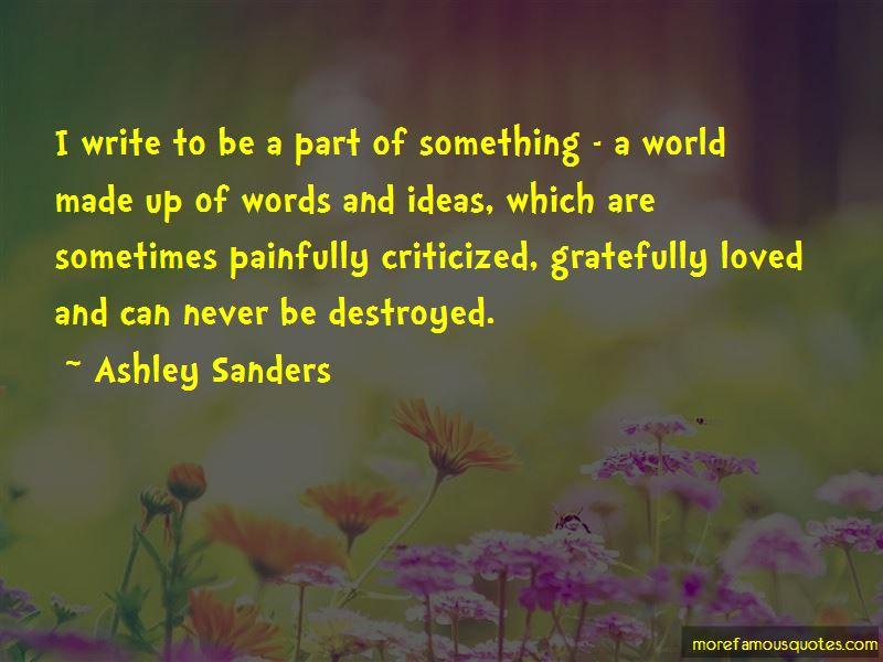 Ashley Sanders Quotes